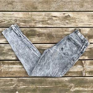 Vintage High Waisted Acid Wash Mom Jeans